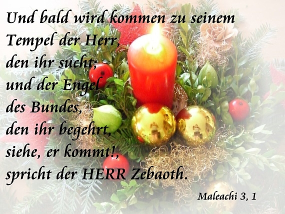 Spruchkarte - Advent